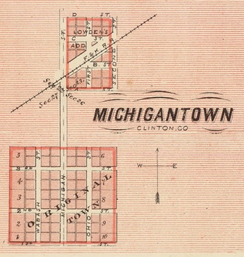 Michigantown 1876
